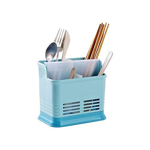 Baffect Tenedor plástico del estante del dren de los cubiertos con 4...