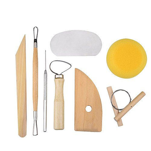 8 Pcs Ceramic Clay Tools Set, Clay Wax Pottery Tool Kit Ceramics Wax Carving Sculpting Moldeling Tools Ceramic & Pottery Tools Pottery Molding Tools