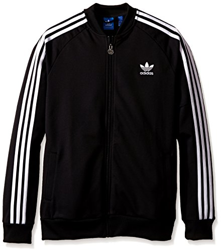 adidas Originals Boys' Superstar Track Top, Black, X-Small
