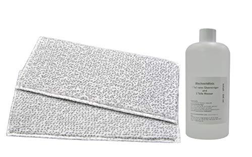 2 Reinigungstücher geeignet für Vorwerk Fensterreiniger VG100 (2 Stk. in Poly) und 1 Flasche hochkonzentrierten Nano-Glasreiniger