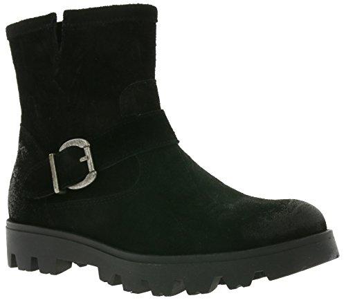Buffalo Trend Plisse Stiefel Damen Stiefelette Absatz-Boots Schwarz 169256, Größenauswahl:38