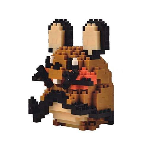 HHtoy Dedenne animado Elf Mini Modelo 3D Puzzle Puzzle Diamond Partículas de construcción, Pokemon Modelo 324 piezas del bloque hueco, DIY Modelo de dibujos animados de juguetes educativos regalo de l
