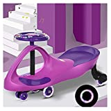 QQYYY Niños Wiggle Car, Baby Swing Car, para Un Control Más Suave, Paseos En Interiores Y Exteriores para Niños, Rueda De Flash Magnético Silencioso, Regalo De 1 A 6 Años,A