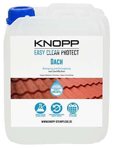 Knopp Easy Clean Protect Dach, Dachreinigung (Bakterien, Flechten etc.) + Versiegelung, 2-4 Jahre wirksam, gebrauchsfertig, 5l