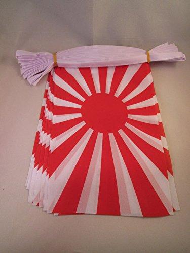 AZ FLAG Guirnalda 6 Metros 20 Banderas del JAPÓN WWI DE Guerra 21x15cm - Bandera Japonesa Imperial 15 x 21 cm - BANDERINES