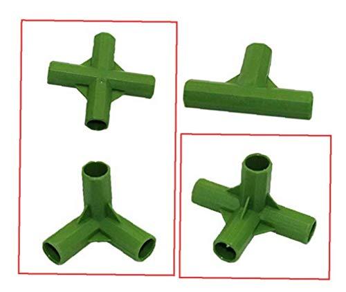 linjunddd 3-Fach, 4-Wege-Stecker 11mm Pflanze Stakes Kunststoff Fester Anschlüsse Gartenrasen Stakes Edging Eckverbinder 3 PC für zu Hause