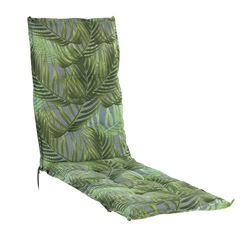 Relaxauflage Polsterauflage Gartenstuhlauflage | Grün | 50 x 170 cm | Baumwolle | Polyester