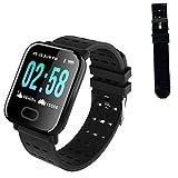 YDK A6 Smart Watch Men's Presión Arterial De Las Mujeres Monitor De Ritmo Cardíaco Impermeable IP67 Deportes Smartwatch para Android iOS Teléfono Watche,D