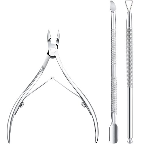 3 Pezzi Cuticola Nipper con Cuticola Spingi Cuticle...