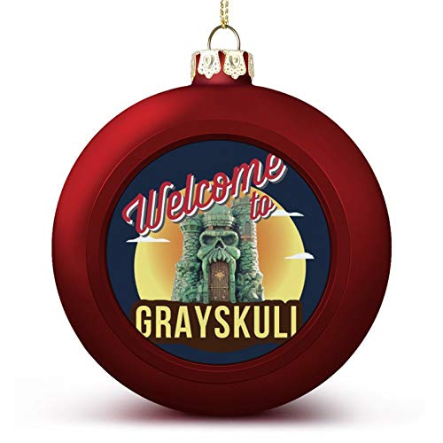 VNFDAS Welcome To Greyskull He Man Masters Of The Universe Custom Christmas ball ornaments Beautifully decorated Christmas ball gadgets Perfect hanging ball for holiday wedding party decoration