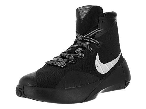 Boy Nike Hyperdunk 2015 (gs) scarpa da basket lupo grigio / bianco / nero Taglia M 4 Us