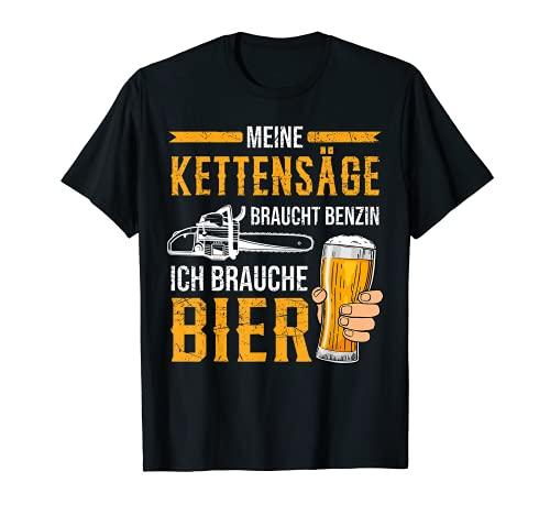 Kettensäge Bier Benzin Motorsäge Holz...