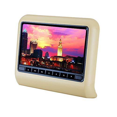 TKFY Auto-TV-Monitor hinteres Entertainment-System 10,1 Zoll großer Bildschirm eingebauter Lautsprecher Kopfstütze Monitor mehrsprachige Unterstützung SD USB DVD-Schnittstelle