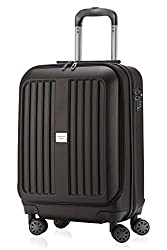 MAIN CITIES - X-Berg - Hand luggage suitcase trolley hard case, TSA, 55 cm, 42 liter, graphite matt