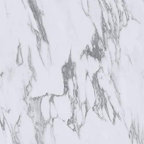 FloorPops FP3329 Opaline Peel & Stick Floor Tiles, White