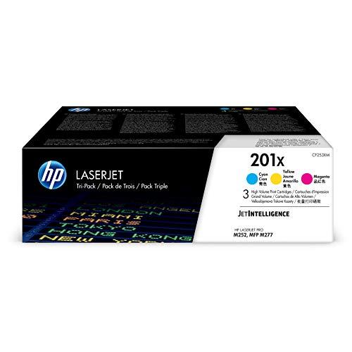 HP 201X | CF401X, CF402X, CF403X | 3 Toner Cartridges | Cyan, Yellow, Magenta | High Yield