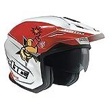 Hebo Zone 5 2020 Toni BOU - Réplica de casco de fútbol, Color rojo blanco., medium