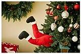 Mr. Christmas 30463 Christmas Decoration, Animated Santa Kicker, 16-in. - Quantity 2