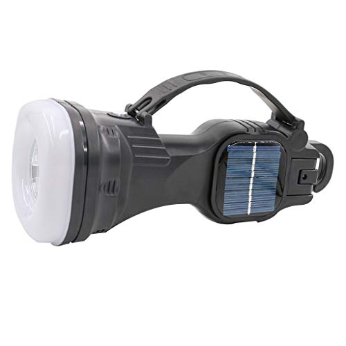 Excursion Camping Lantern - Solar Power & USB Rehargeable LED Bright Lightweight for Emergencys, Storms, Outages The Best Lamp Light with Magnetic - Hiking Camping Accessories (Black)