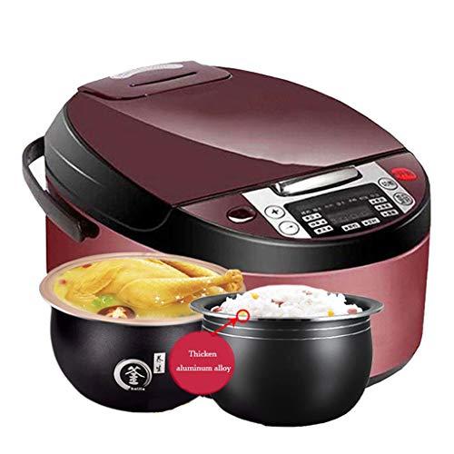 Mysida 5-Liter-intelligenter Haushalts-Multifunktions-8-in-1-Reiskocher mit One-Touch-Bedienung (Farbe : Double Pot, größe : 3L)