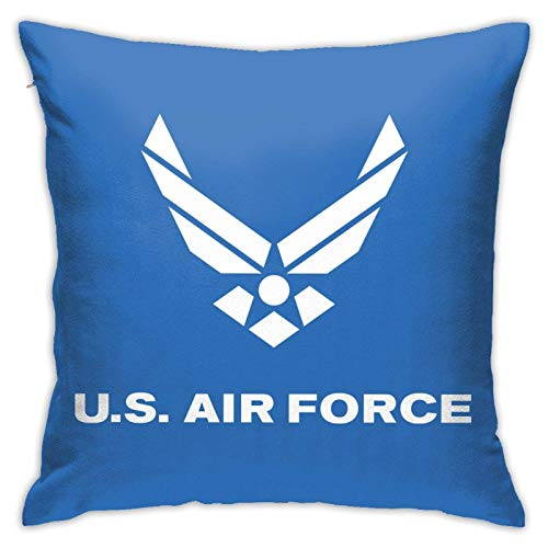 LINGSHANG Us Air Funda de almohada para decoración del hogar Colg Craft Kit funda de almohada cuadrada 45,7 x 18 pulgadas