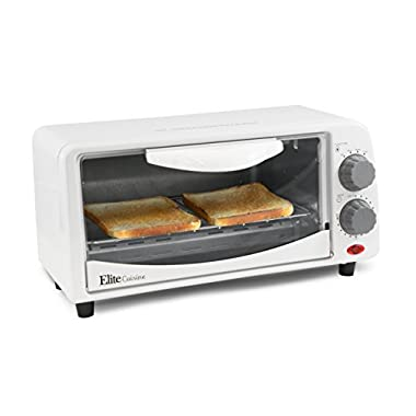ETO-113 Elite Cuisine ETO-113 Maxi-Matic 2-Slice Toaster Oven with 15 Minute Timer, White