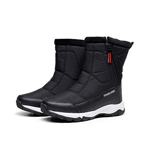 Buty narciarskie Męskie, Dzieci Buty śniegowe Chłopcy Dziewczyny Spacery Wycieczki Przytulne, pogrubione buty narciarskie, zimne i wiatroszczelne buty bawełniane, zewnętrzna antypoślizgowa wysoka wodo