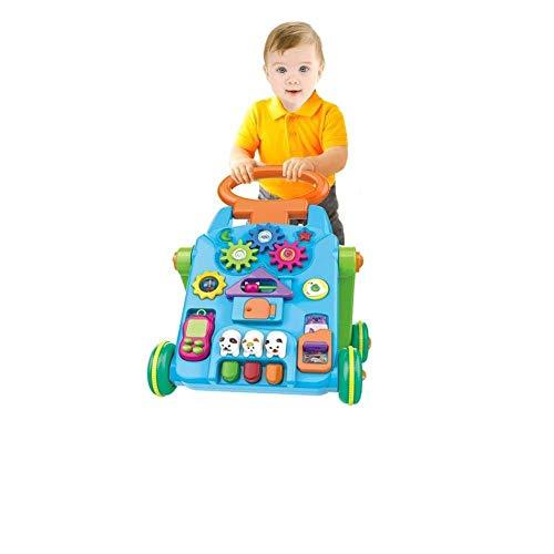 YIAIYAS Juguete Ligero for Carro de niños 3-en-1 Juguete for Empujar y Tirar Actividad for niños Caminar Juguetes de Mesa