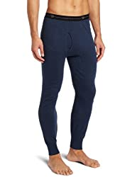 mens long thermal underpants dark blue