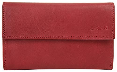 Bagan Geldbörse Echt Leder rot Damen - 017527