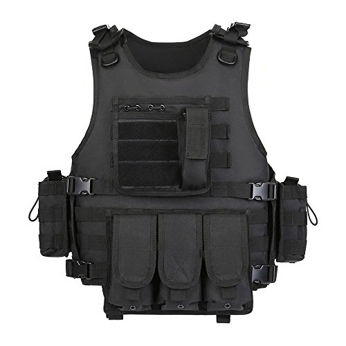 GZ XINXING Black Tactical Airsoft Paintball Vest (Grey)