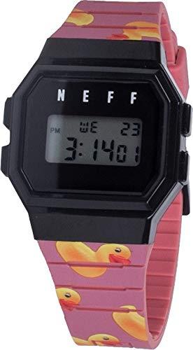 neff Men's Quartz Sport Watch with Plastic Strap, Multi, 20 (Model: NF0252-1
