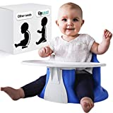 Upseat Baby Floor Seat Booster Chair with Tray Upright...