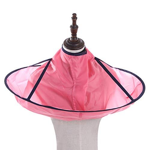 Kentop Blouse de Salon de Coiffure Cheveux Coupes Coiffure Coiffeurs Cape Robe Cape de Coiffure Tablier Imperméable (Rose)