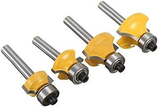 ASNOMY Set di Frese 4 pezzi, codolo 6.3 mm, in acciaio forgiato. Punte per taglio legno, con custodia