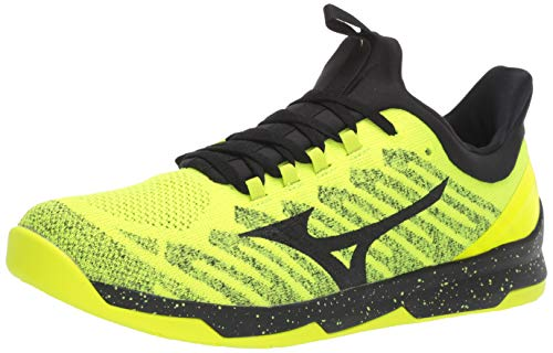 Mizuno Men's TC-01 Cross Training Shoe, Cross Training Sneakers for all forms of Exercise, Safety Yellow-Black, 9.5 D US