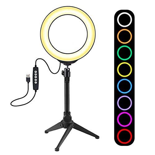 Ring Light, draagbare lichtgewicht mobiele telefoon Live Broadcast Photography LED-invullicht met statief instelbaar invullicht voor podcast, live video, mode, bruiloftskunst, enz