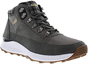 Khombu ROM Mens Hiking Boots, Insulated Fashion Waterproof Boots for Men, Grey, 10 M US