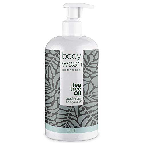 Australian Bodycare Body Wash 500ml | Tea Tree Oil und Mint | Teebaumöl Duschgel für Männer & Frauen bei Unreiner & Trockener Haut, Pickeln, Juckreiz, Körpergeruch, Schweiß
