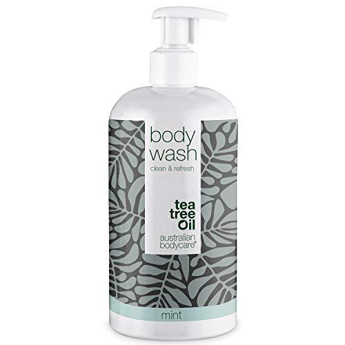 Australian Bodycare Body Wash 500ml   Con aceite de Árbol de Té y Menta   Gel de ducha para pieles secas y Manchadas  Para el cuidado diario de Granos, Picazón, Olor Corporal, Sudor