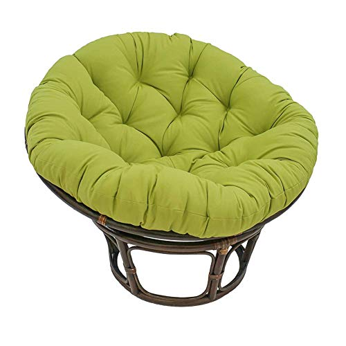 Anzkzo Papasan Chair Cushion Rattan Removable Quilting Hanging Egg Chair Pads Papasan Chair Pads Cotton For Patio Outdoor Garden-50cm Green