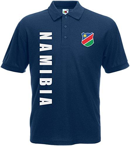Namibia Polo-Shirt Trikot Wunschname Wunschnummer (Navyblau, XXL)