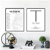 chtshjdtb Tel Aviv Karte Poster Israel Stadtplan