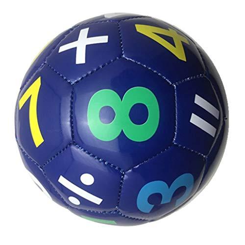 CUTICATE Fussball Lederball Spielball Kinder Fußball - Blaue Nummer, 15cm