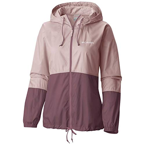 Columbia Veste Coupe-vent Imperméable Femme, FLASH FORWARD, Polyester, Rose (Mineral Pink/Antique Mauve), Taille : L, 1585911