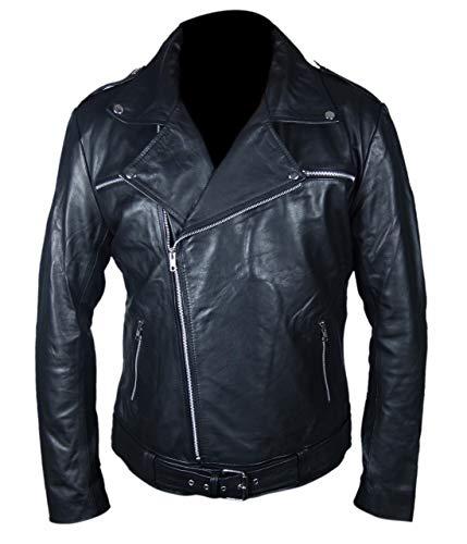 Feather Skin Jacke Herren Leder Jacke XL Negan The Walking Dead