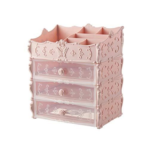 LSJZF Organiseur de Maquillage, tiroirs de Rangement pour Bijoux et cosmétiques pour Salle de Bain, Commode, Coiffeuse et comptoir (2 tiroirs)