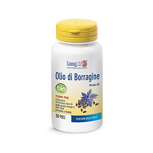 Longlife Olio di Borragine Bio 1300 Mg - 90 Gr