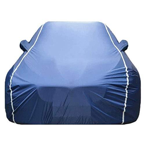 ZYuan Funda para Coche Compatible con BMW 4 Series Funda para Exterior para Coche Funda para vehículo Transpirable Resistente Aranazos con Tiras Rflectante (Color : Blue, Size : 435i)