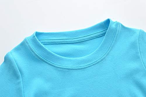 Warmbaby Little Boys Kids Long Sleeve T-Shirts Size 5 Blue Truck
